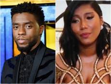 La esposa de Chadwick Boseman, Taylor Simone Ledward, elogiada por el emotivo discurso de aceptación en los Globos de Oro