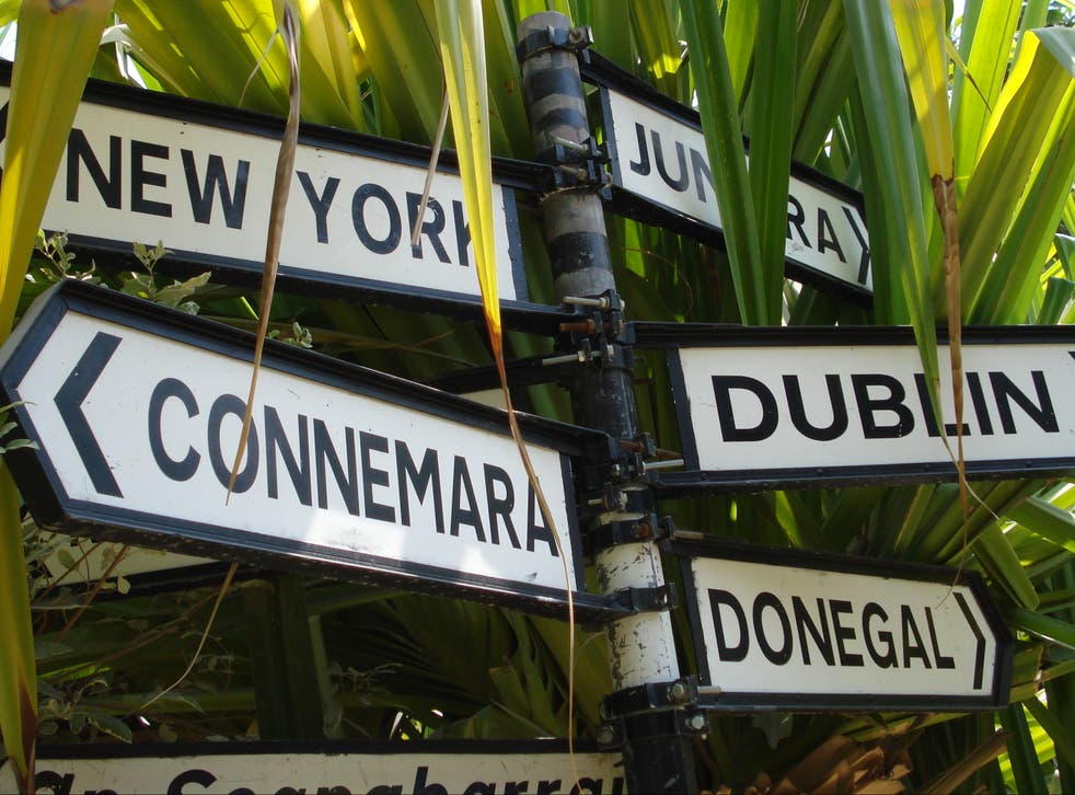 Going places? Signpost at the Irish Village in Dubai