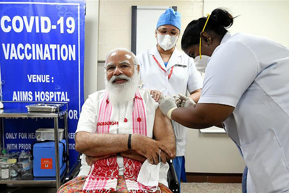 India's Modi receives first dose of homegrown Covid vaccine in bid to dispel concerns over lack of data