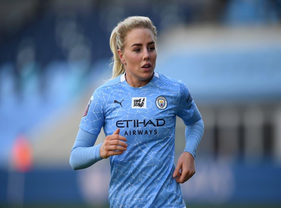 <p>Alex Greenwood is confident City can keep pace with Chelsea in the title race</p>