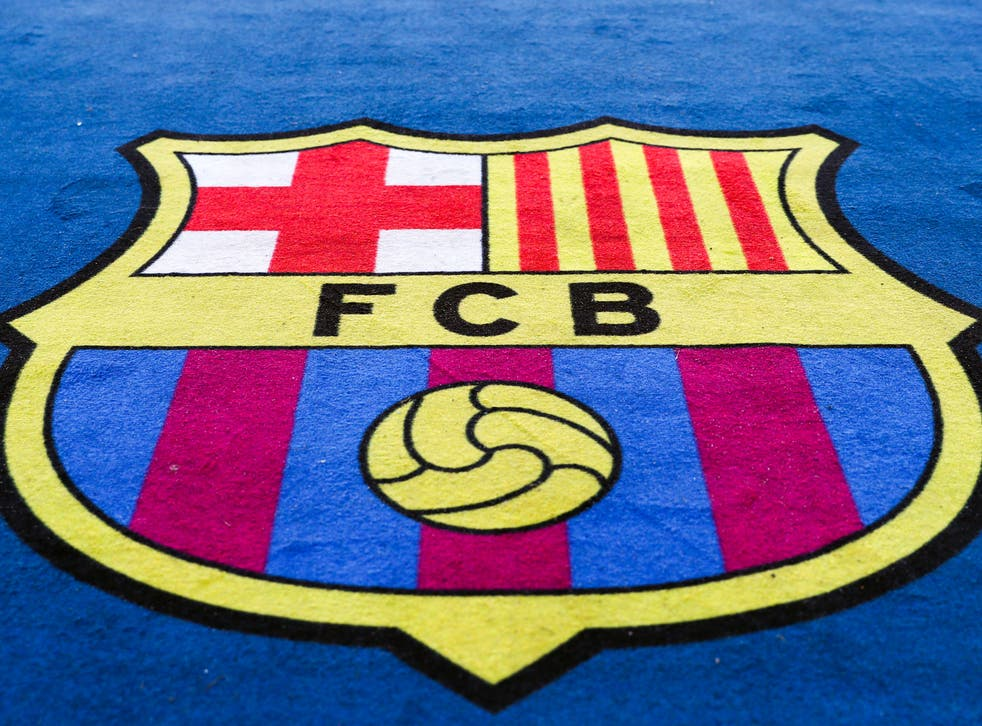 A general view of the Barcelona badge