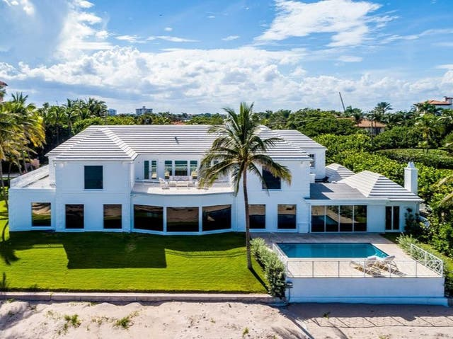 """The Trump family's """"Beachouse"""" near Mar-a-Lago has been listed for sale at $49m"""