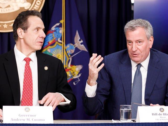 """<p> El alcalde de la ciudad de Nueva York dijo que Andrew Cuomo """"ya no debería estar en el servicio público"""" si una investigación independiente revela que el gobernador acosó sexualmente a dos ex empleadas  </p>"""