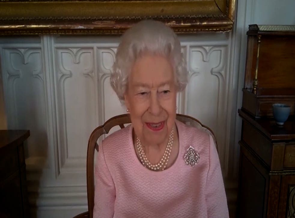 The Queen on her video call to Australia