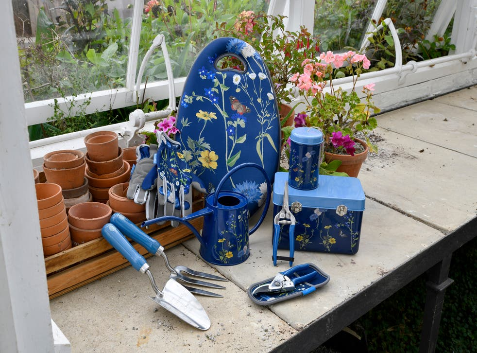 The British Meadow RHS design on a variety of gardening tools (Burgon & Ball/PA)