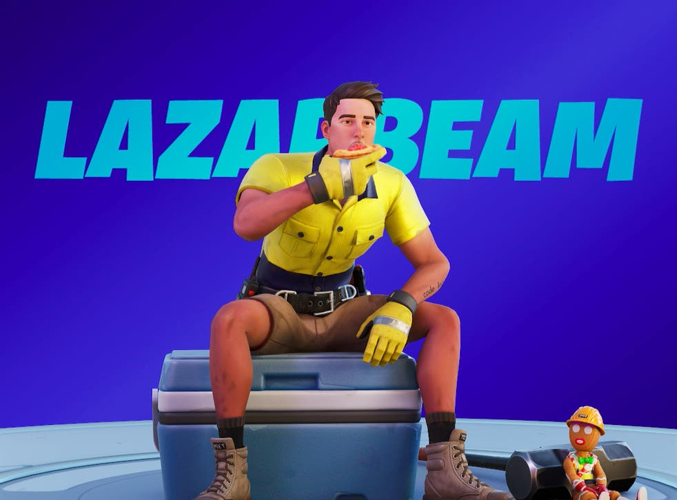 The Lazarbeam emote in which a character eats a meat pie