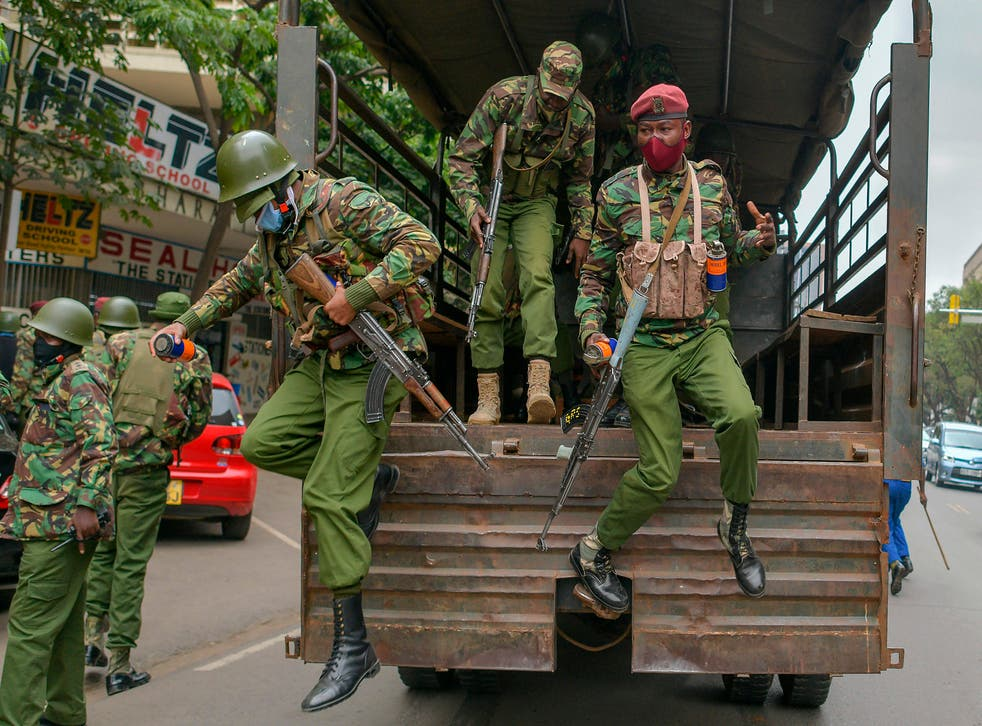 <p>Polls have indicated that more than half of Kenyans think police are a threat rather than a service</p>
