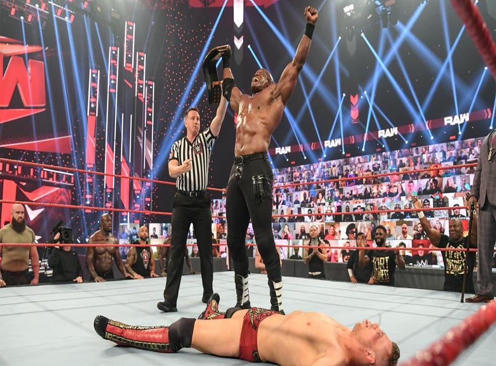 Bobby Lashley ensured Miz's title reign ended after just one week