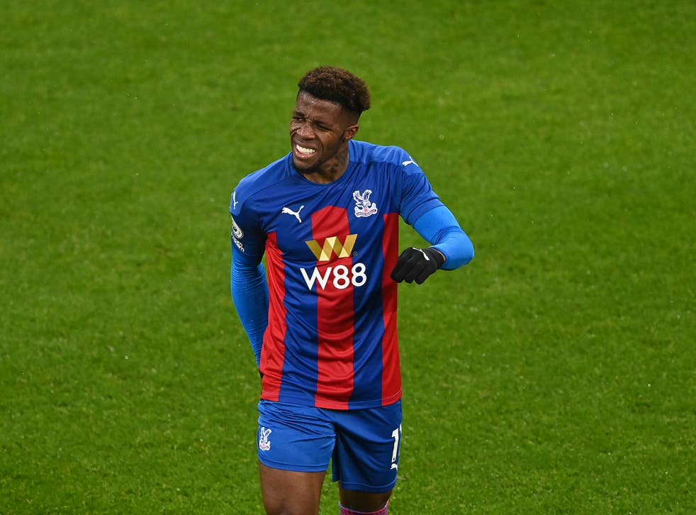 Crystal Palace winger Wilfried Zaha injured his hamstring on 2 February
