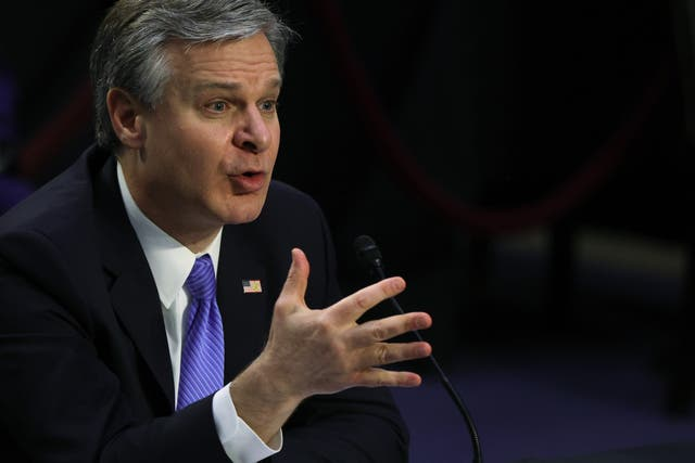 <p>FBI Director Christopher Wray has indicated violent right-wing extremism is one of the top threats facing the US.</p>