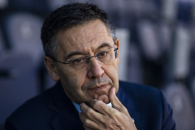 <p>ARCHIVO - En esta foto del 8 de noviembre de 2019, el presidente del Barcelona Josep Bartomeu durante una entrevista con The Associated Press en el estadio Camp Nou. </p>