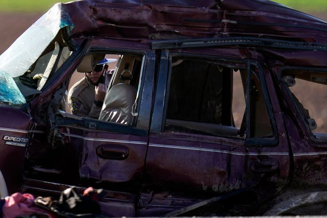 APTOPIX California Highway Crash