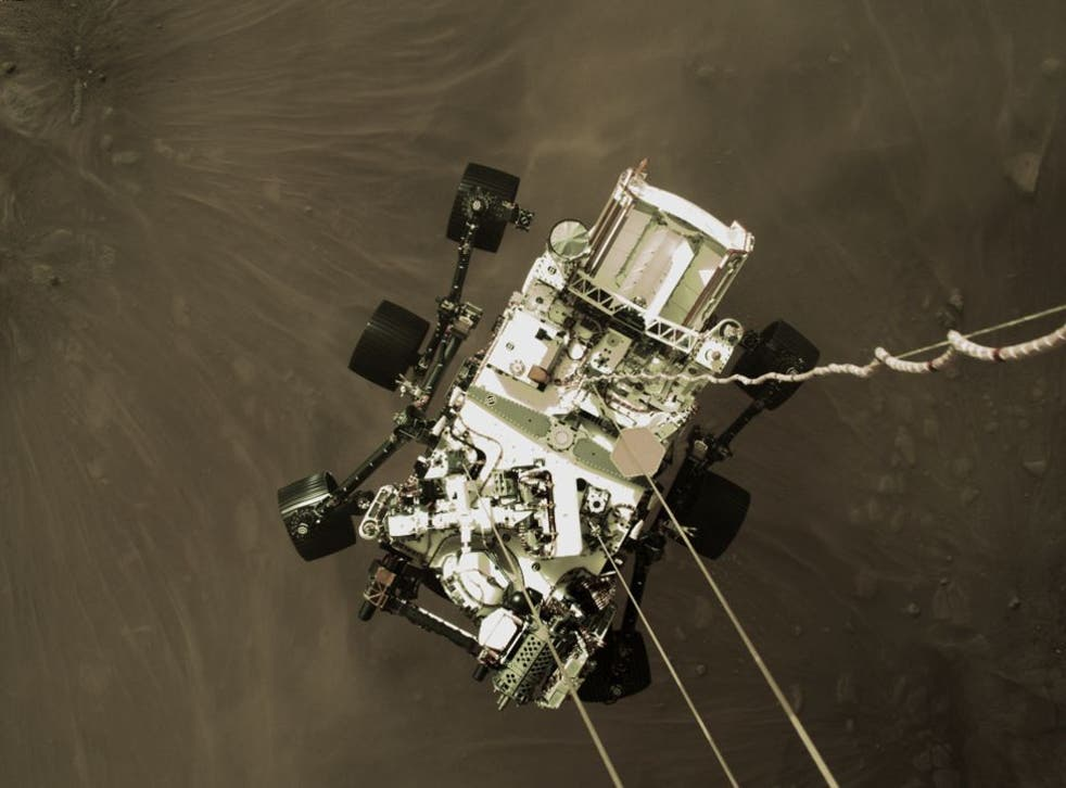 <p>The Perseverance rover is currently exploring Mars for NASA</p>