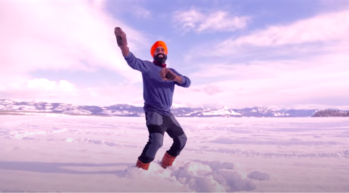 Bhangra-dancing Canadian goes viral after celebrating on frozen lake after Covid vaccine - independent