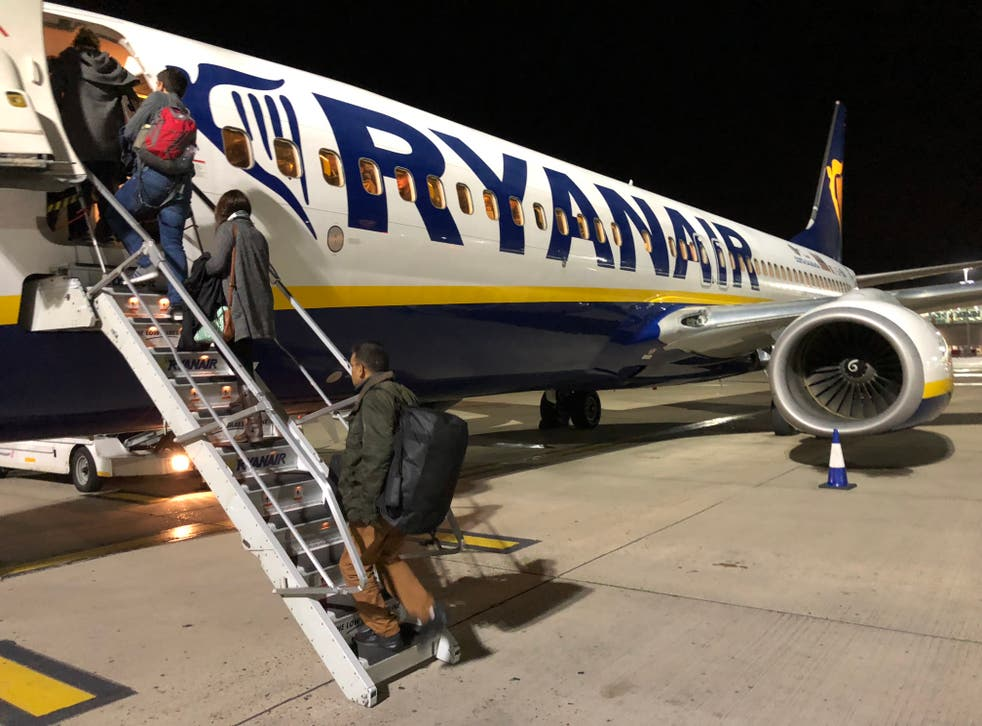 Back on board? Ryanair Boeing 737 at Stansted airport
