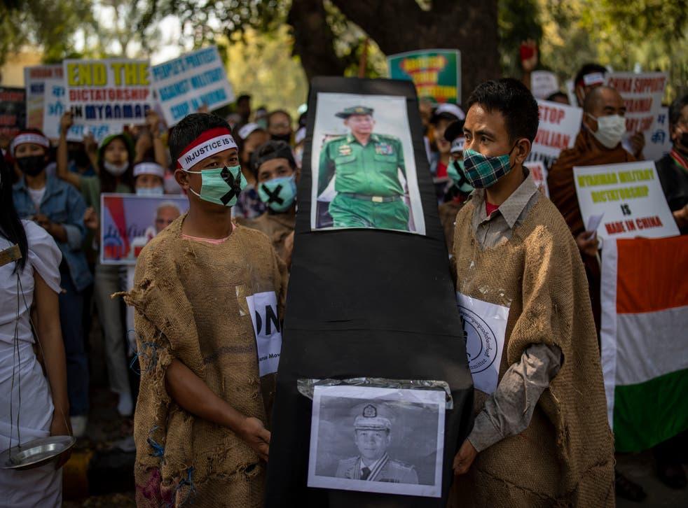 India Myanmar Protest