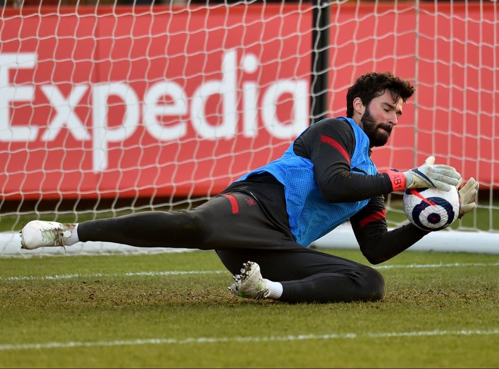 Liverpool goalkeeper Alisson