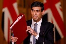 Bill for coronavirus support tops £400bn as Rishi Sunak says UK will be paying for decades to come