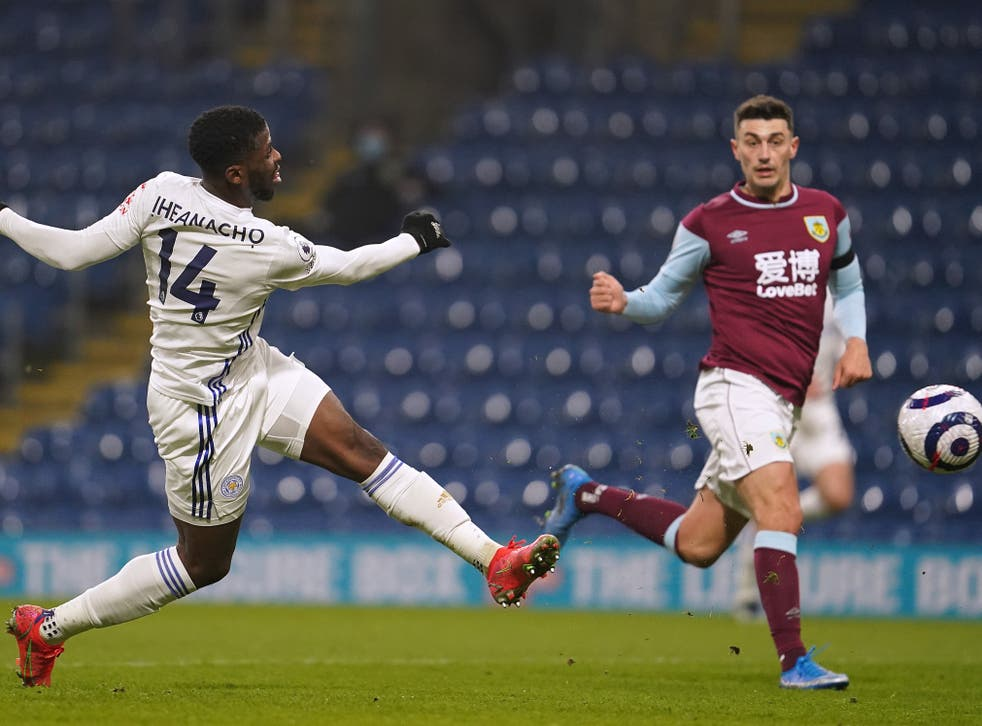 Kelechi Iheanacho ensured Leicester came from behind to share the points with Burnley