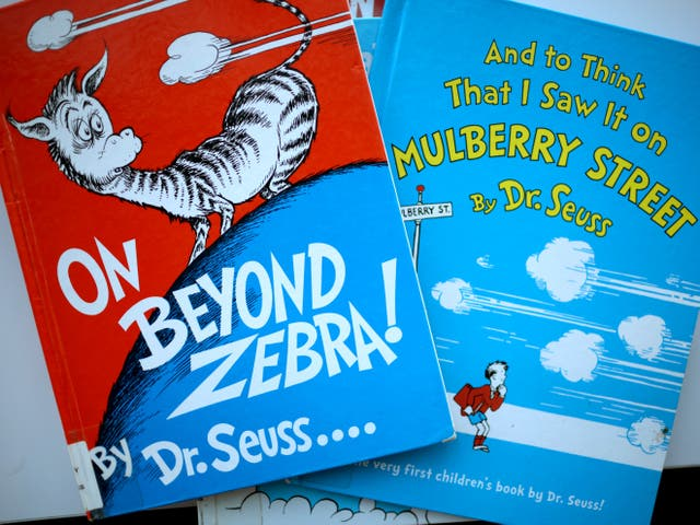 Two of the six Dr Seuss books that have been pulled from publication
