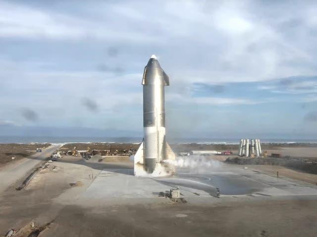 <p>SpaceX ha completado la última prueba de su nave espacial Starship con destino a Marte</p>