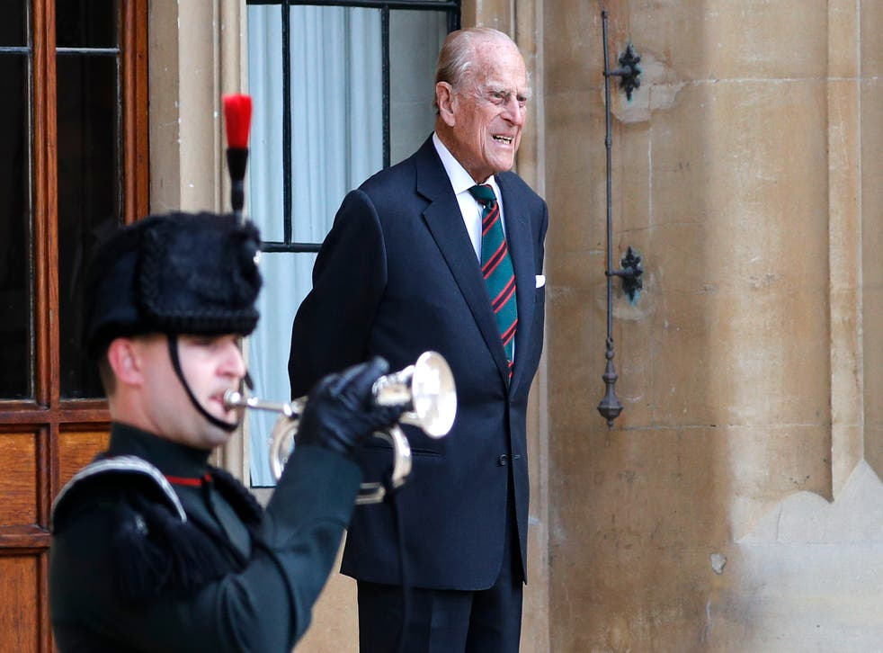Prince Philip was first admitted to hospital last month with an infection