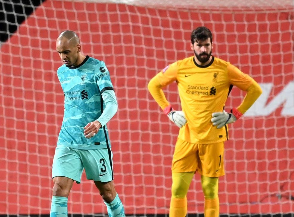 Liverpool players Fabinho and Alisson