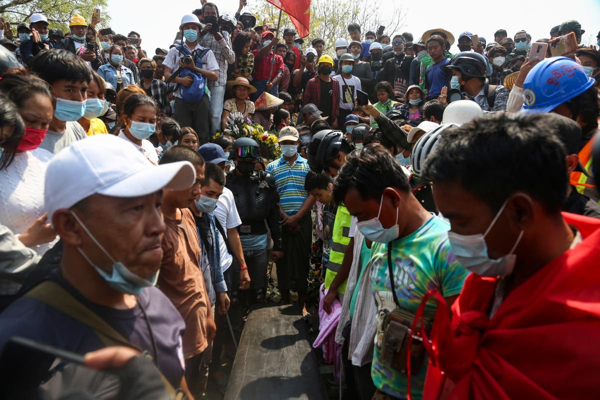 Myanmar: Hundreds mourn 'Everything will be ok' protester after worst day of violence - independent