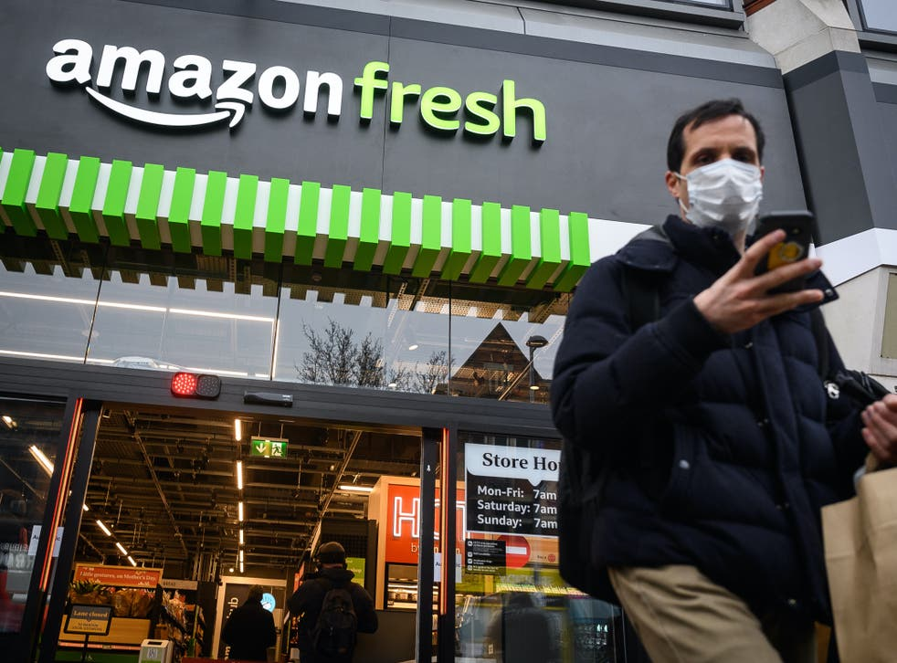 <p>Amazon Fresh has opened their first branch in the UK in Ealing in west London</p>