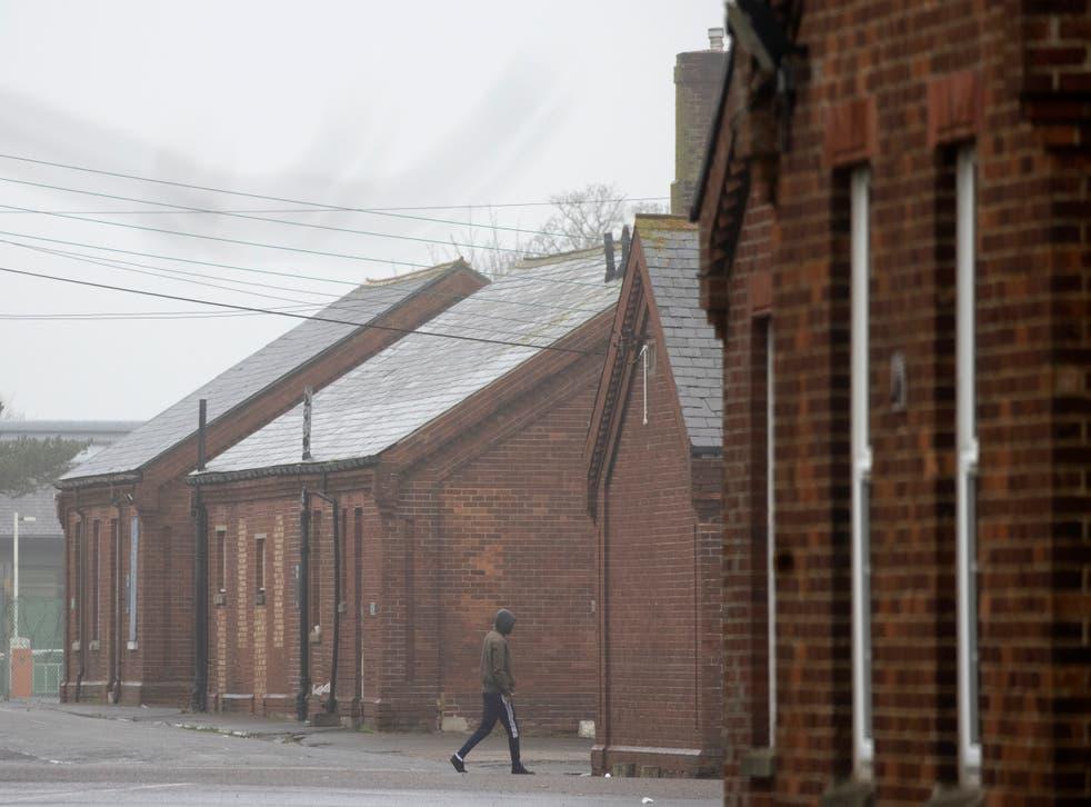 <p>Napier Barracks near Folkestone, Kent</p>