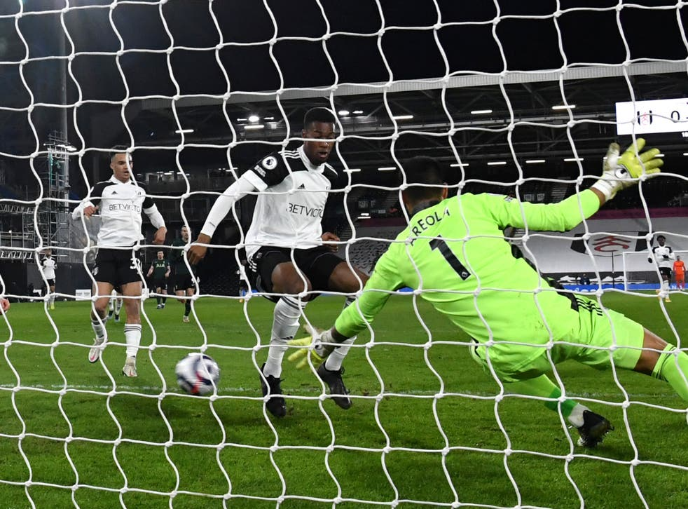 <p>Fulham's Tosin Adarabioyo turns the ball into his own net</p>
