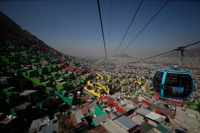APTOPIX Mexico Cable Car