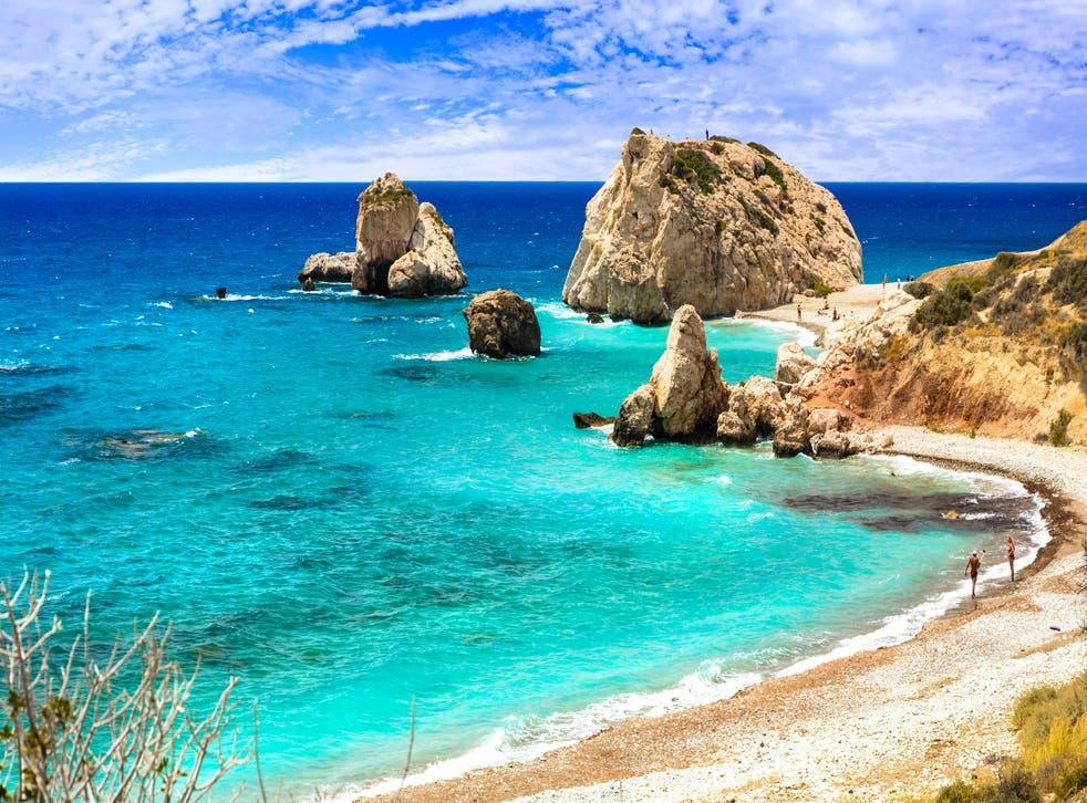 Petra tou Romiou beach,Cyprus island.