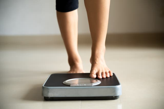<p>Step up: weighing in regularly boosts your chance of success</p>