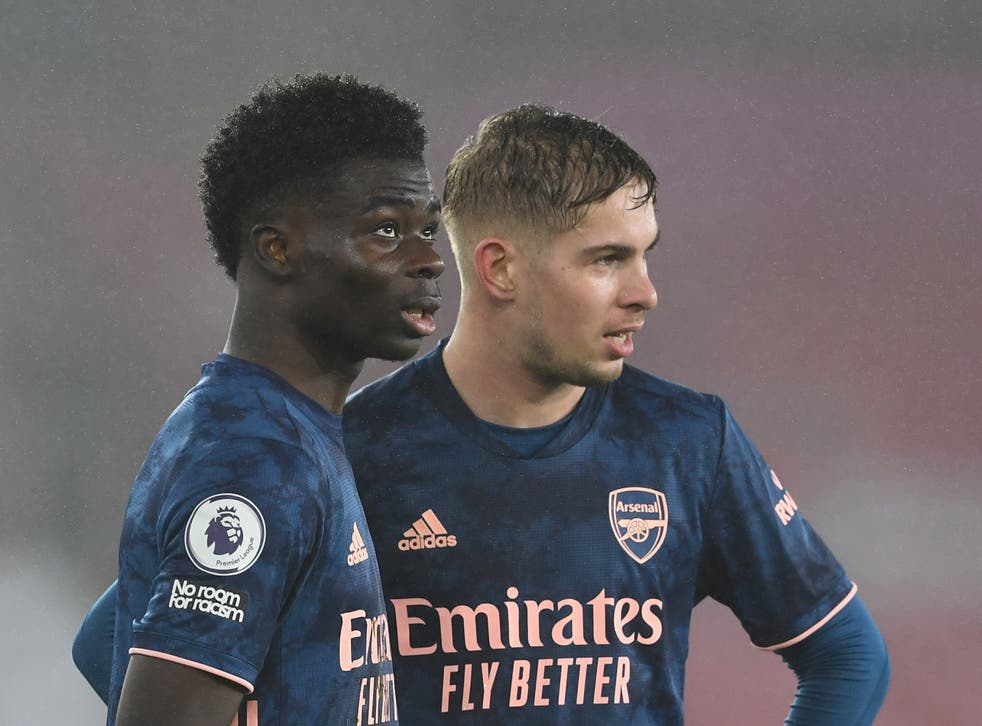 Arsenal's Emile Smith Rowe can enter England squad by following Bukayo  Saka's lead, says Mikel Arteta | The Independent