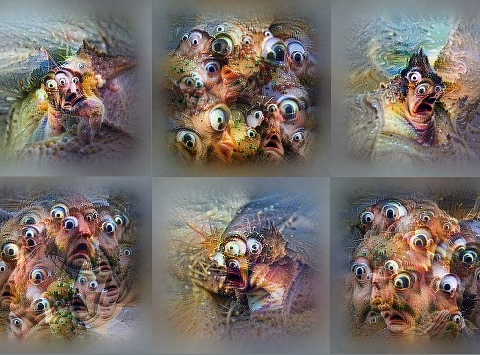 Images created by one of OpenAI's neural networks processing shock