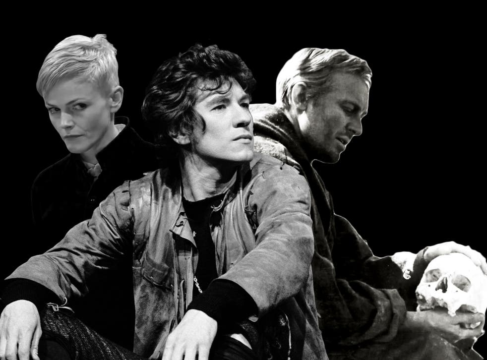 <p>Maxine Peake, Ian McKellen and Innokenty Smoktunovsky in various incarnations of Hamlet</p>