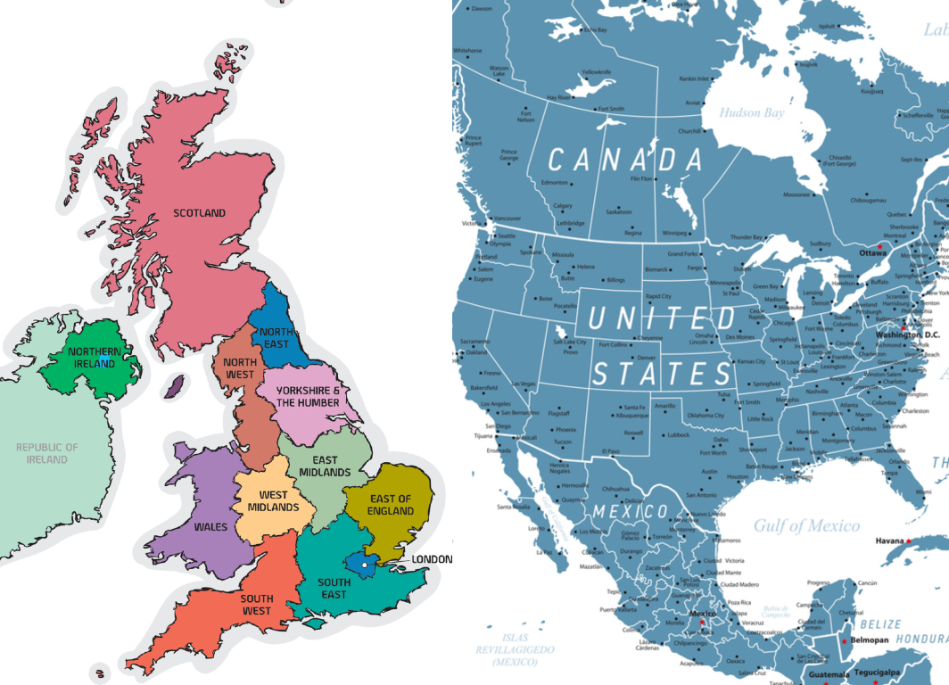 This map of the UK as US states will blow your mind