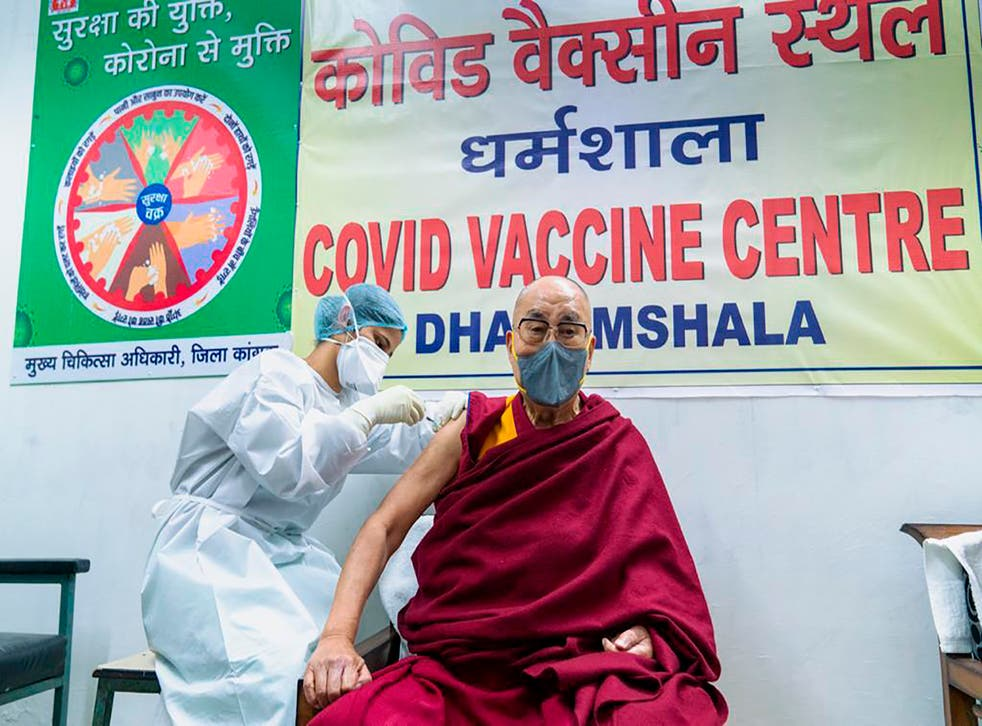 Virus Outbreak India Dalai Lama
