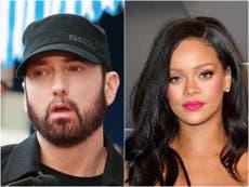 """Eminem responde a campaña de TikTok que busca """"cancelarlo"""" por la letra de una canción que hizo con Rihanna"""