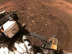 Nasa's Mars rover Perseverance makes first trip since touching down