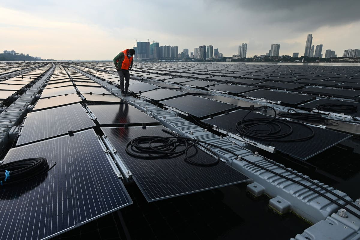 Singapore builds huge floating solar farm out at sea in bid to tackle climate crisis  - independent
