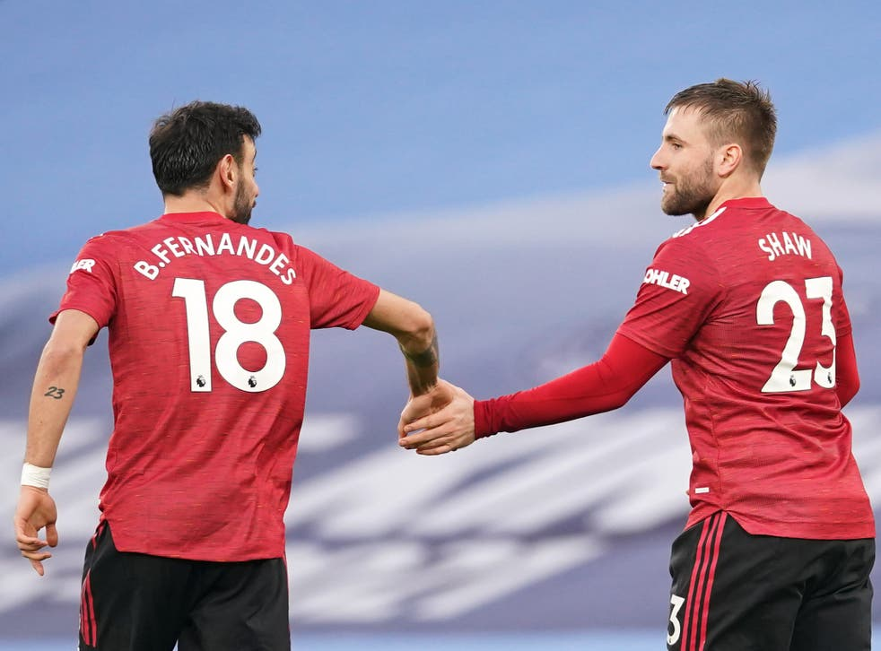 Bruno Fernandes and Luke Shaw netted as Manchester United won the derby