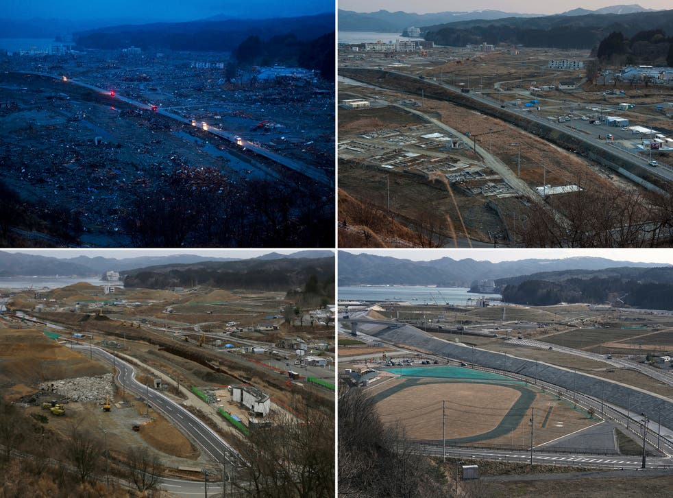 Japan Tsunami Anniversary Then and Now