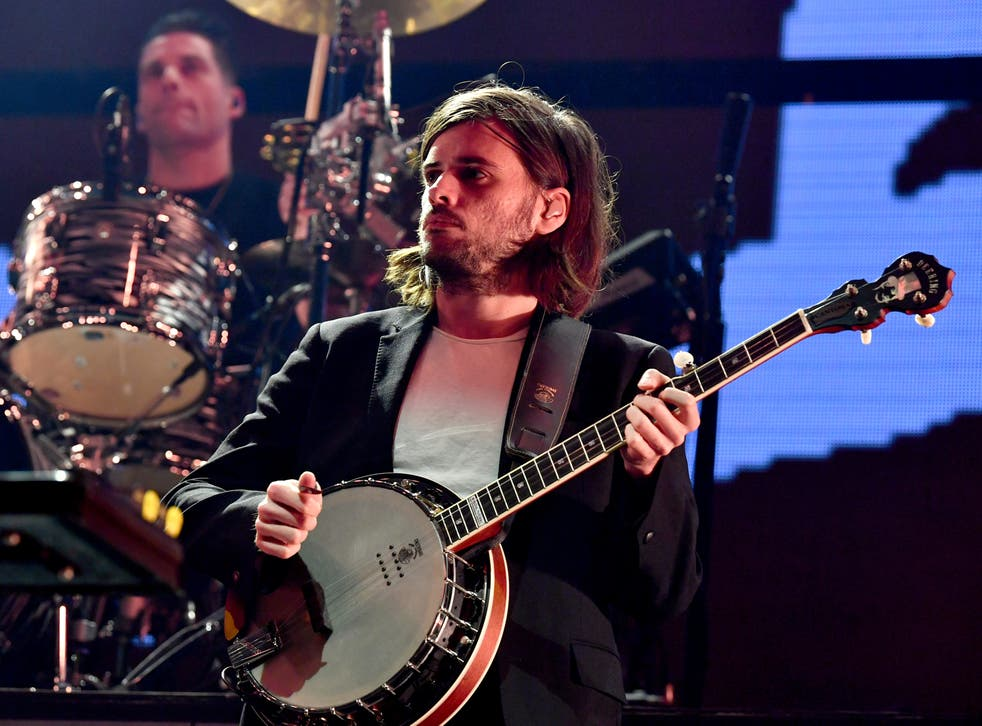 Winston Marshall of Mumford & Sons performs onstage during KROQ Absolut Almost Acoustic Christmas 2019