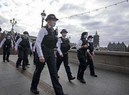 Female police officers on South Bank