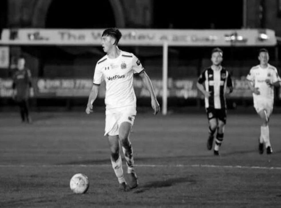 <p>Luke Bennett was a 'kind' and 'popular' player for the non-league club</p>