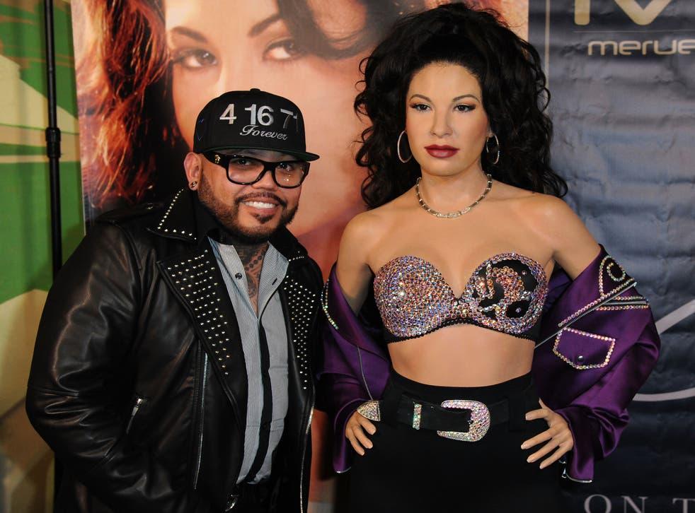 <p>El músico A.B. Quintanilla III es captado en Los Ángeles durante la develación de una estatua de cera en homenaje a su hermana, Selena, el 3 de noviembre de 2017. </p>