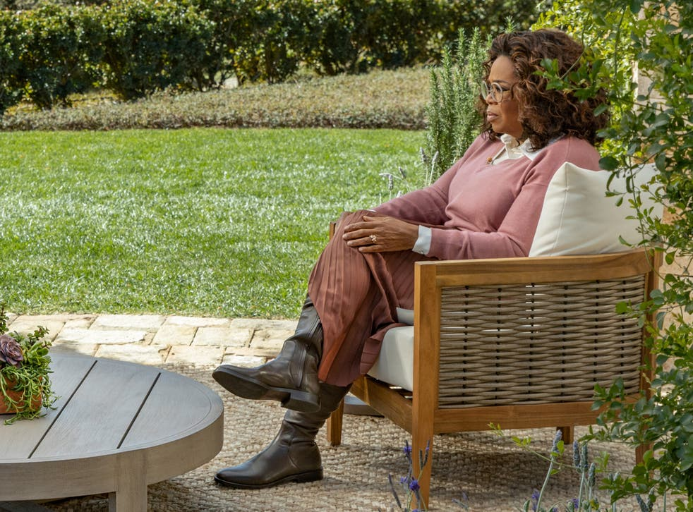 QAnon conspiracy theorists claim Oprah was wearing an ankle monitor under her boot