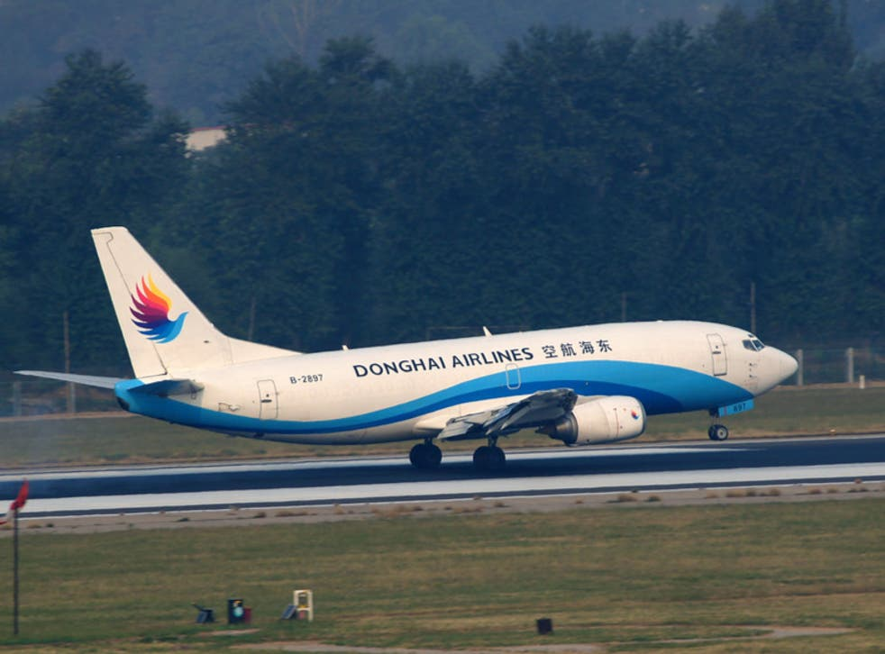 The incident took place on a Donghai Airlines aircraft